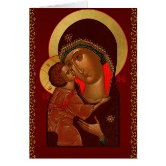 Carte de voeux orthodoxe russe de Noël