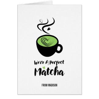 Carte de voeux parfaite d'amour de Matcha