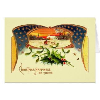 Carte de voeux patriotique de Noël de WWI