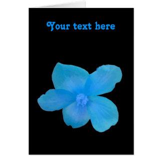 Carte de voeux personnalisable de bégonia bleu