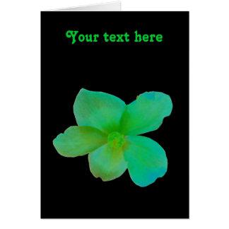 Carte de voeux personnalisable de bégonia vert