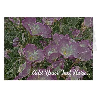 Carte de voeux personnalisée de fleur sauvage
