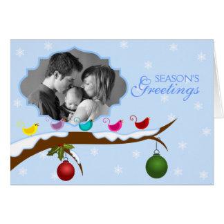 Carte de voeux personnalisée de photo de Noël