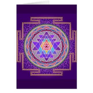 Carte de voeux pourpre de Sri Yantra