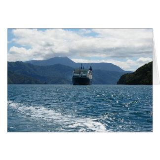 Carte de voeux quotidienne de ferry de la Nouvelle