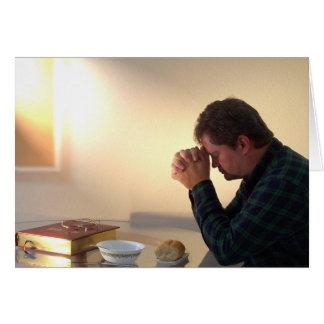 Carte de voeux quotidienne de pain de grâce et de