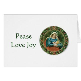 Carte de voeux religieuse de Noël