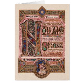 Carte de voeux religieuse irlandaise vintage de