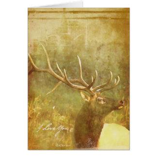 Carte de voeux romantique lavée par aquarelle