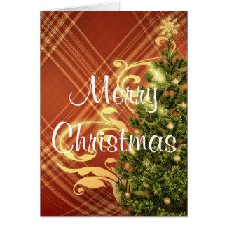 Carte de voeux rouge de Noël