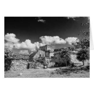 Carte de voeux - ruines maya - Tulum, Mexique