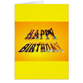 carte de voeux standard de joyeux anniversaire