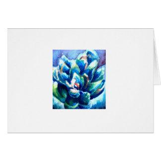Carte de voeux succulente d'impression d'aquarelle