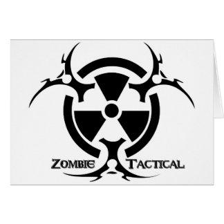 Carte de voeux tactique de zombi