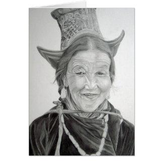 Carte de voeux tibétaine de plaisir