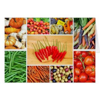 Carte de voeux végétale colorée d'impression de