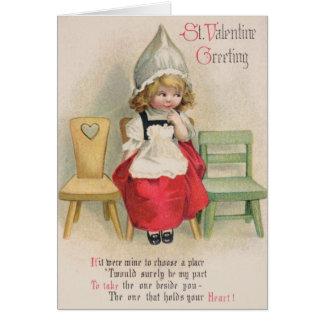 Carte de voeux victorienne de St Valentine