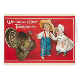 Carte de voeux victorienne de thanksgiving