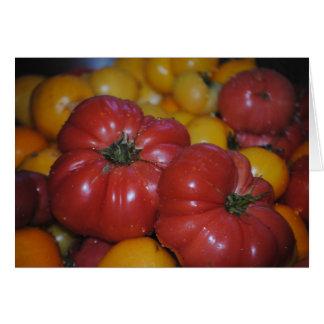 Carte de voeux vierge de tomates