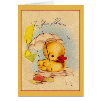 Carte de voeux vintage de baby shower