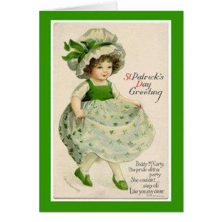 Carte de voeux vintage de danseur du jour de St