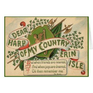 Carte de voeux vintage de Jour de la Saint Patrick
