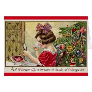 Carte de voeux vintage de Noël