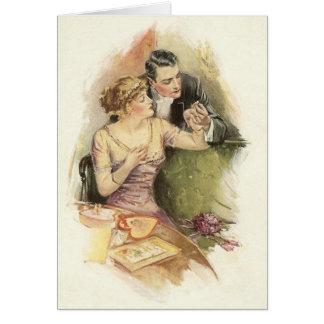 Carte de voeux vintage de proposition de mariage