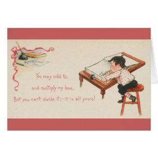 Carte de voeux vintage de Valentine de comptable
