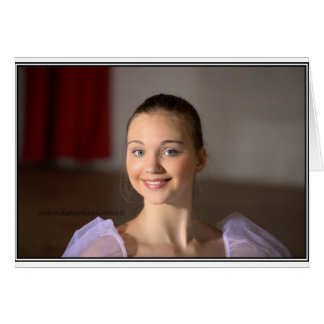 Carte de voeux Zoe la Danseuse
