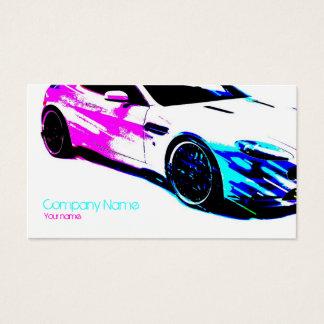 Carte de voiture peinte par blanc simple de course