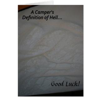 Carte de voyage de bonne chance de l'enfer du
