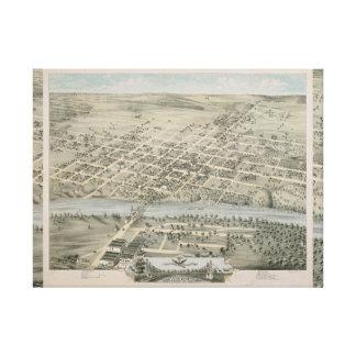 Carte de Waco vintage, le Texas Toile