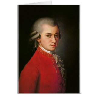 Carte de Wolfgang Amadeus Mozart