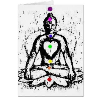 carte de yoga de chakra