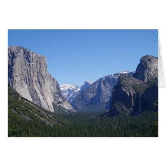 Carte de Yosemite la Californie de cinq points de
