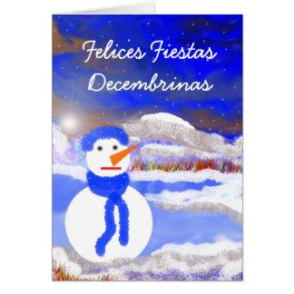 Carte Decembrinas de fiestas de Felices