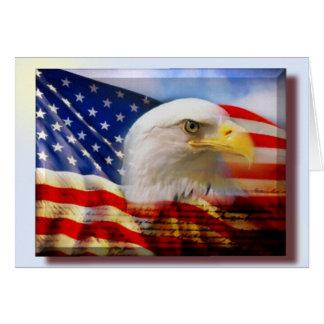 Carte Déclaration de drapeau d'Eagle