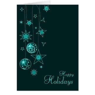 Carte Décorations élégantes de fantaisie de Noël de