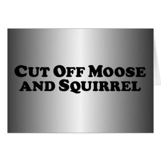 Carte Découpez les orignaux et l'écureuil - vêtements