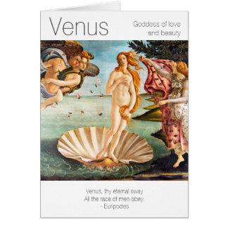 Carte Déesse de Vénus de l'amour et de la beauté