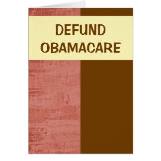 Carte Defund Obamacare