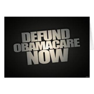 Carte Defund Obamacare maintenant