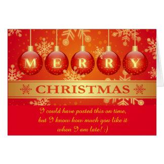Carte Défunt souhait drôle de Joyeux Noël