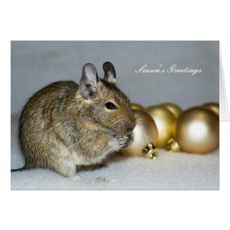 Carte Degu et Noël de Bonnes Fêtes de babioles