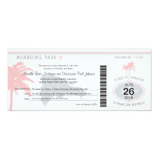 Carte d'embarquement au mariage de la République Carton D'invitation 10,16 Cm X 23,49 Cm