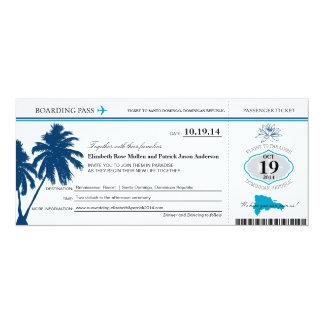 Carte d'embarquement de mariage de la République Carton D'invitation 10,16 Cm X 23,49 Cm
