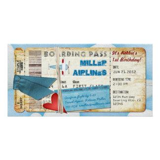 Carte d'embarquement de partie d'avion