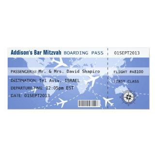 Carte d'embarquement Placecard Carton D'invitation 10,16 Cm X 23,49 Cm
