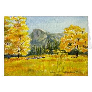 Carte Demi de pré de dôme, parc national de Yosemite